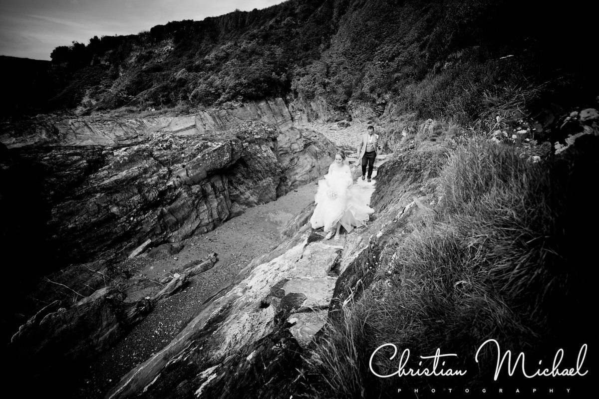 Janet + David | Polhawn Fort